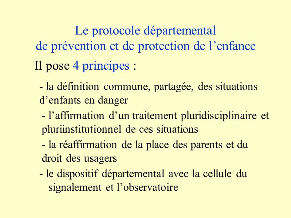 Le protocole départemental de prévention et de protection de l'enfance