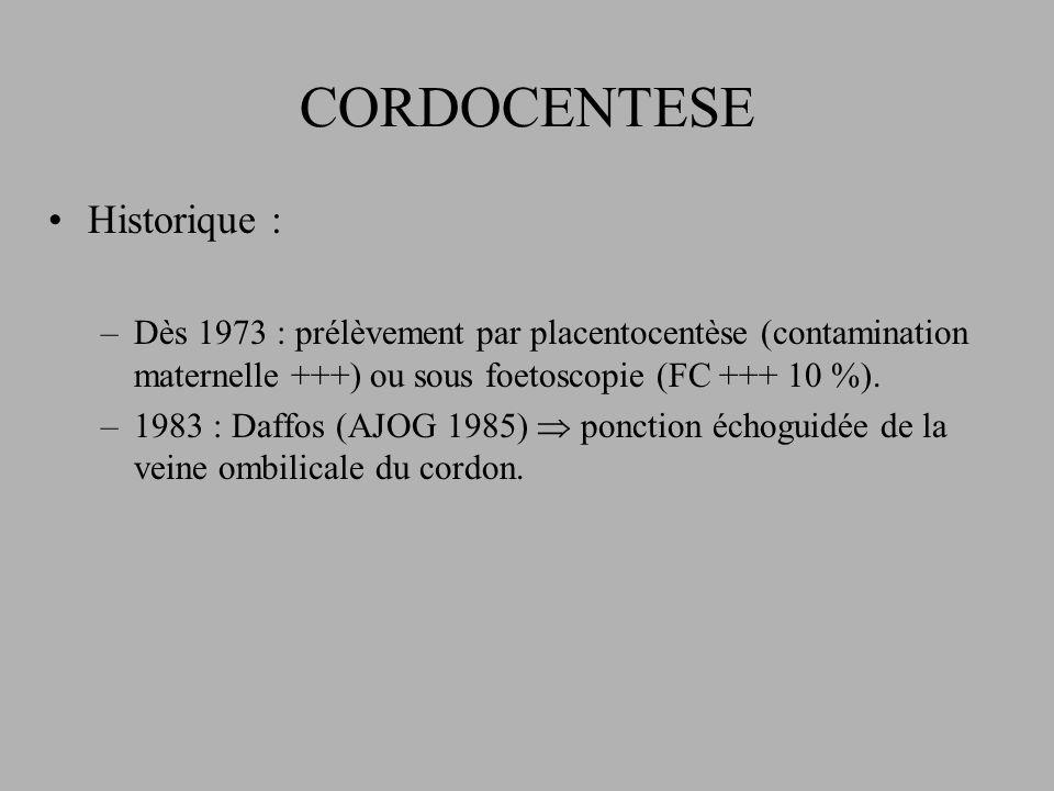 CORDOCENTESE Historique :