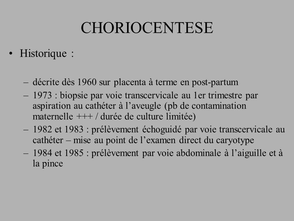 CHORIOCENTESE Historique :