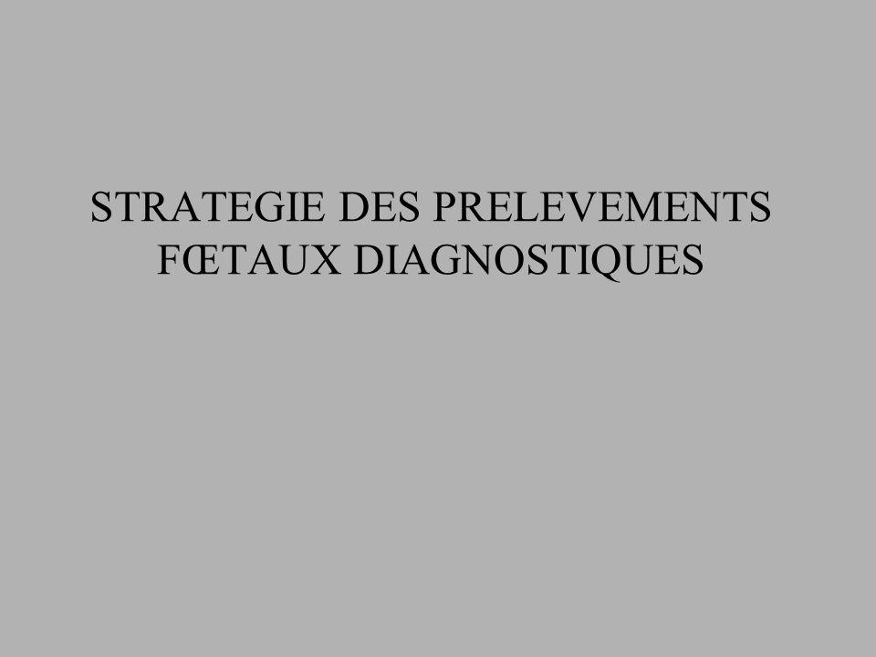 STRATEGIE DES PRELEVEMENTS FŒTAUX DIAGNOSTIQUES