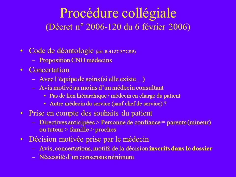 Procédure collégiale (Décret n° 2006-120 du 6 février 2006)