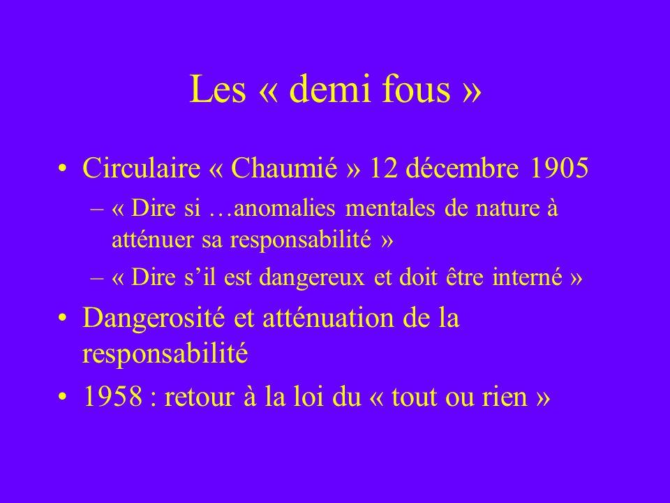Les « demi fous » Circulaire « Chaumié » 12 décembre 1905