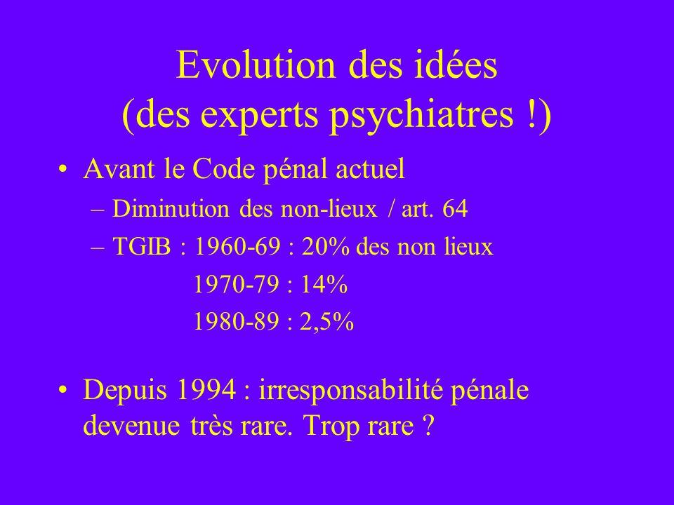 Evolution des idées (des experts psychiatres !)