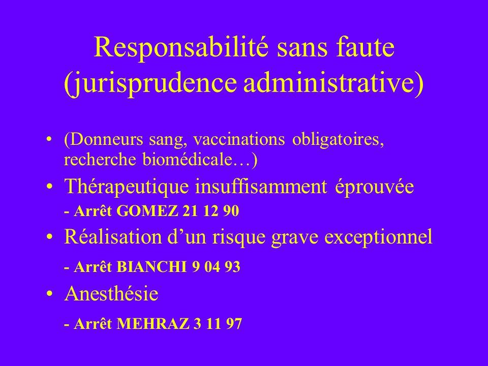 Responsabilité sans faute (jurisprudence administrative)