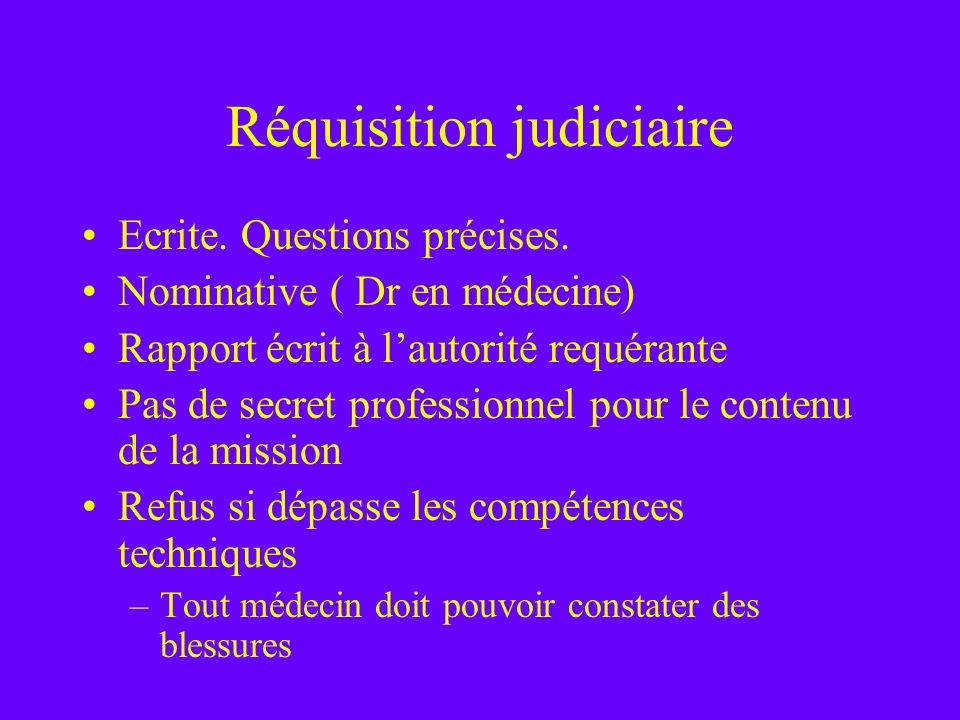 Réquisition judiciaire