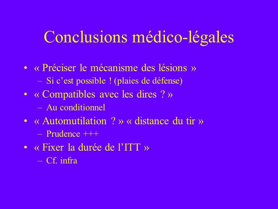 Conclusions médico-légales