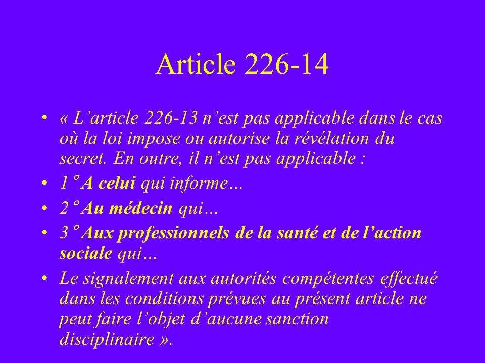 Article 226-14