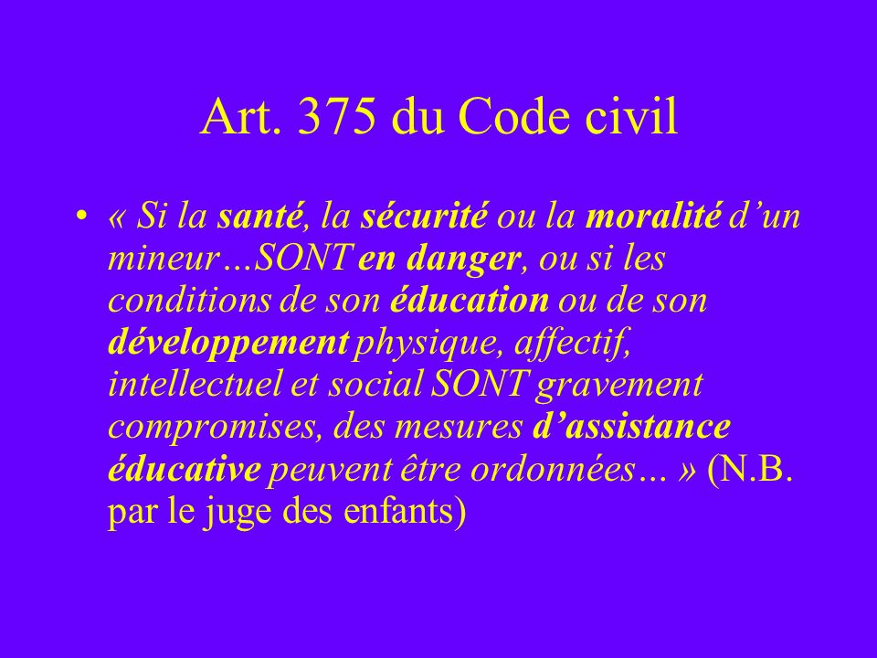Art. 375 du Code civil