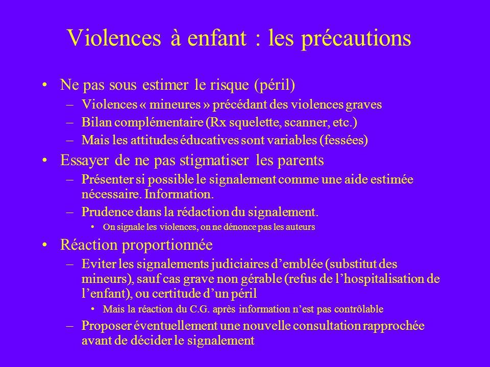 Violences à enfant : les précautions