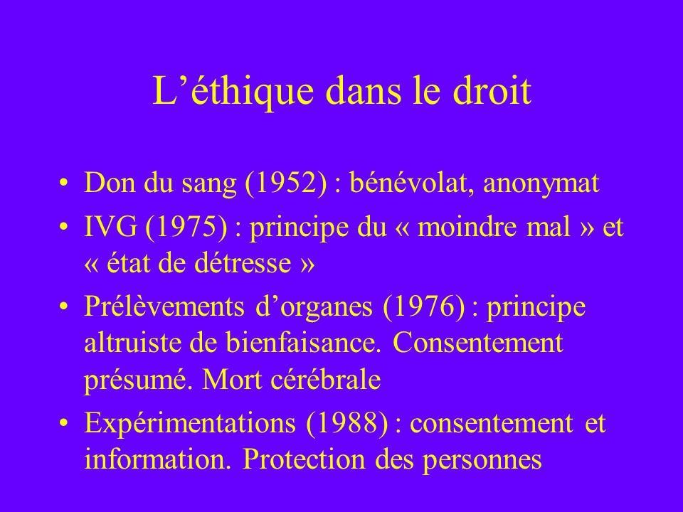 L'éthique dans le droit