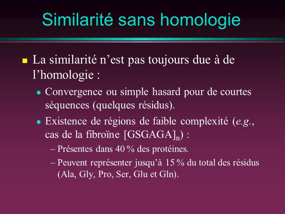 Similarité sans homologie