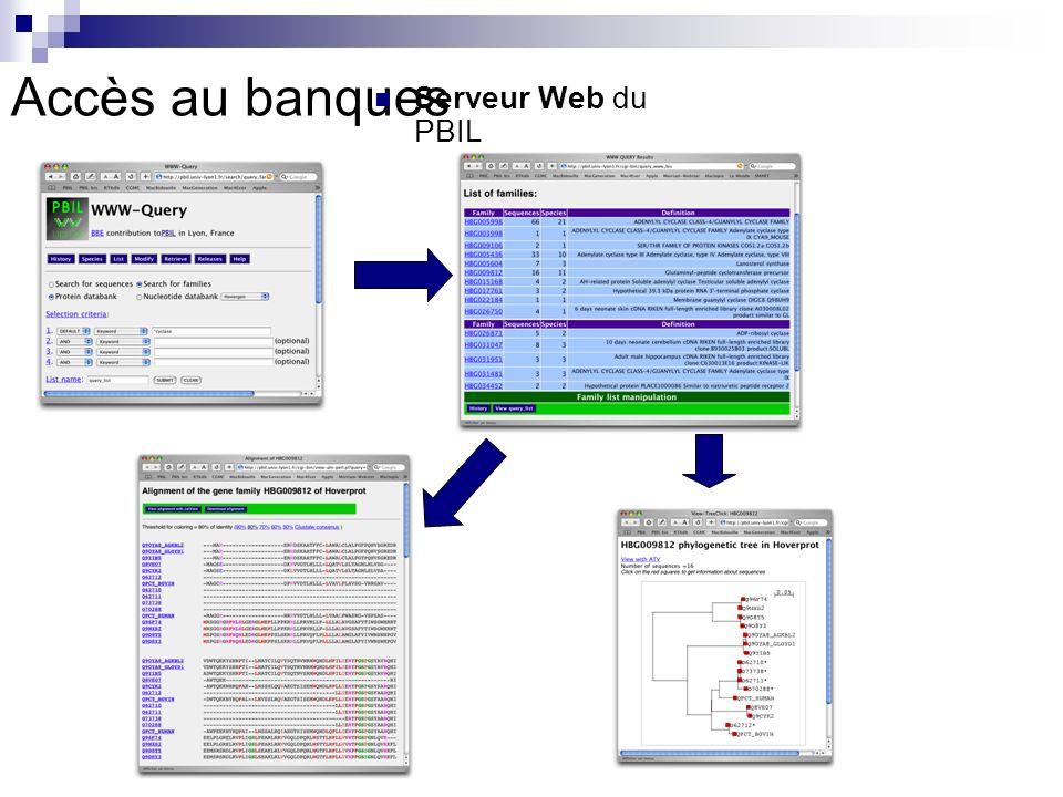 Serveur Web du PBIL Accès au banques