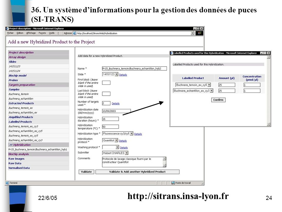 36. Un système d'informations pour la gestion des données de puces (SI-TRANS)