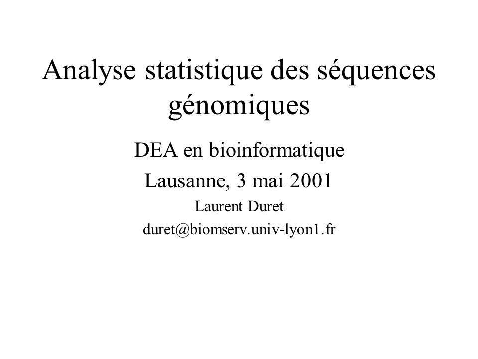 Analyse statistique des séquences génomiques