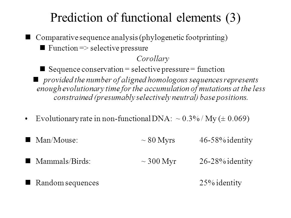 Prediction of functional elements (3)