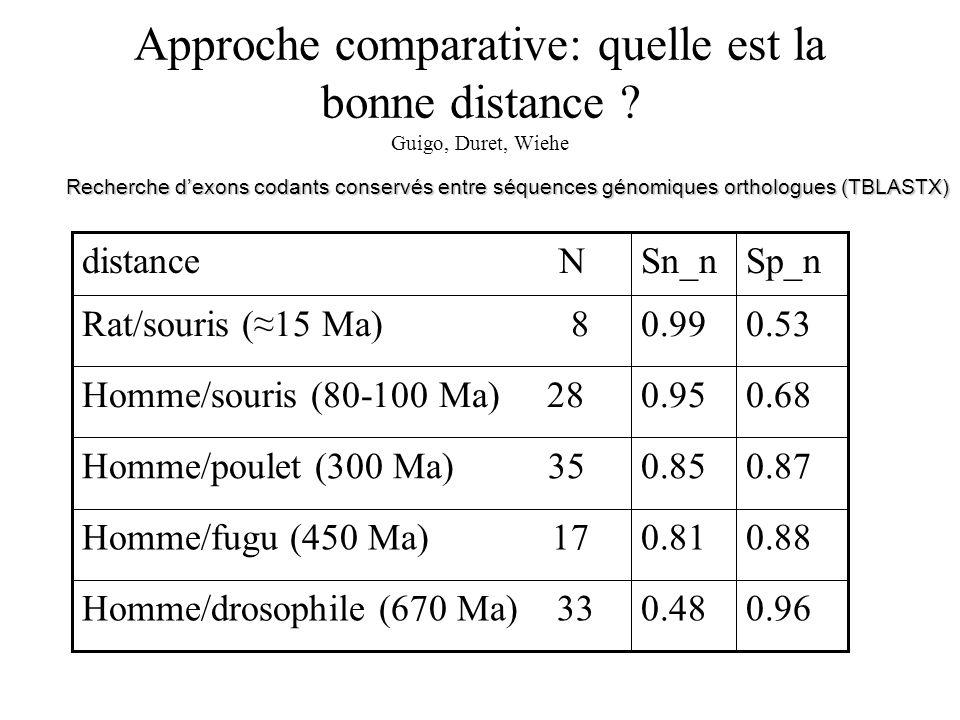 Approche comparative: quelle est la bonne distance Guigo, Duret, Wiehe