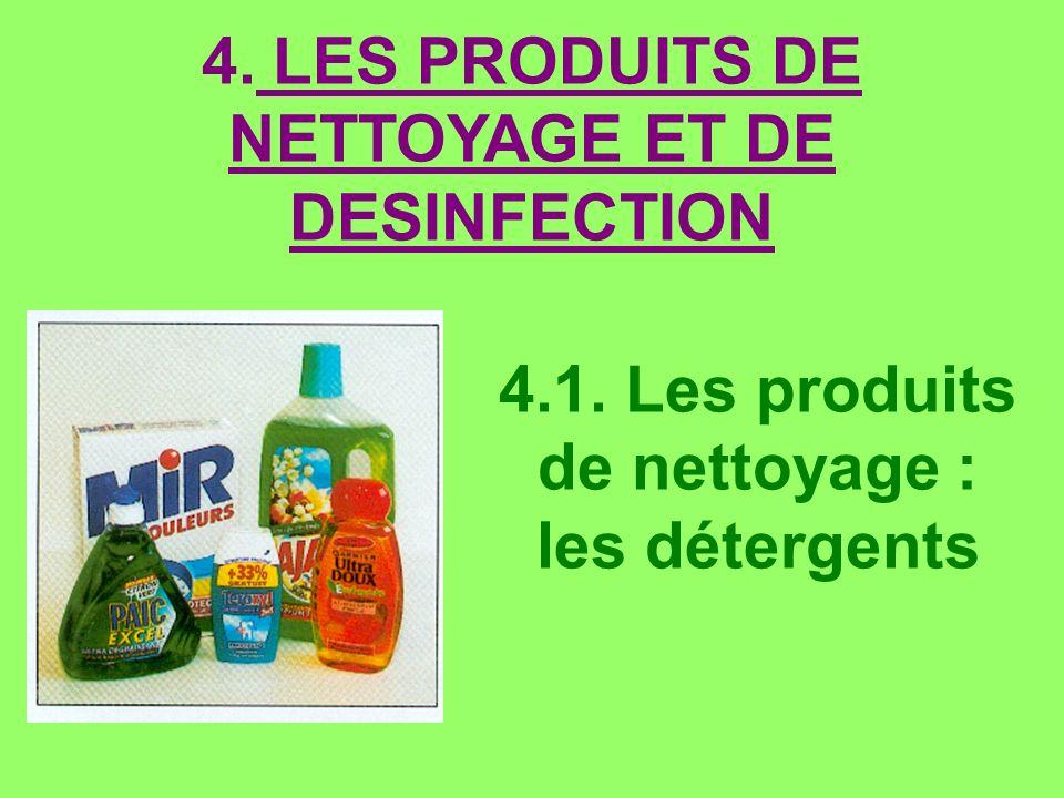4.1. Les produits de nettoyage : les détergents