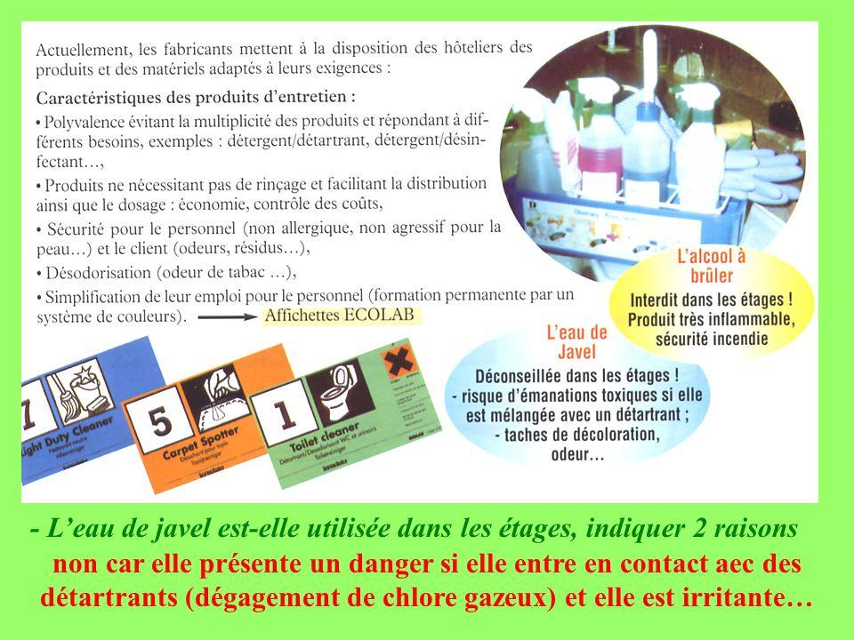 Partie 1 hygiene et entretien ppt video online t l charger - Eau de javel danger ...