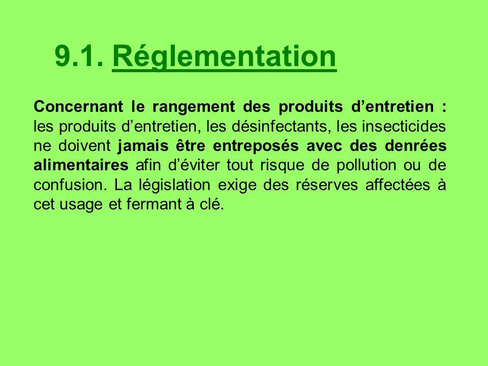 9.1. Réglementation