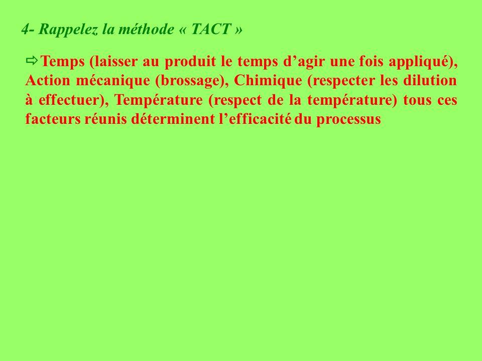 4- Rappelez la méthode « TACT »