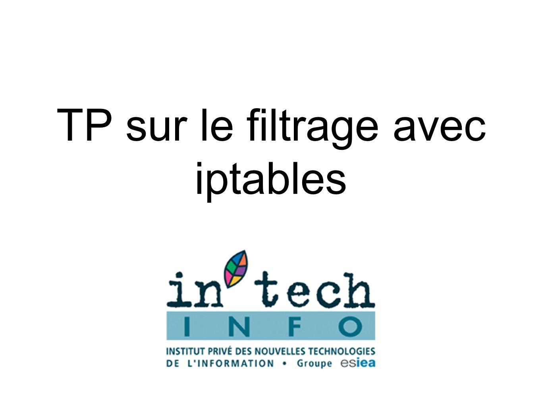 TP sur le filtrage avec iptables