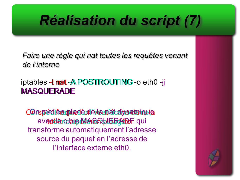 Réalisation du script (7)