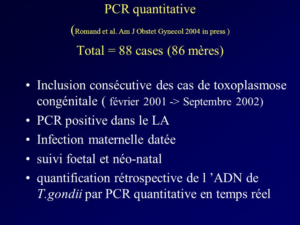 PCR quantitative (Romand et al