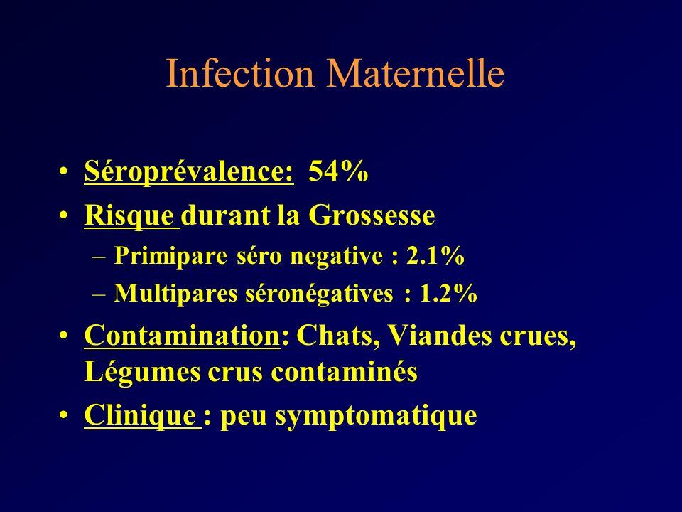 Infection Maternelle Séroprévalence: 54% Risque durant la Grossesse
