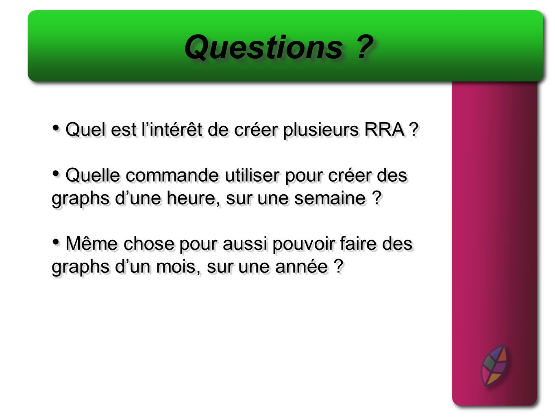 Questions Quel est l'intérêt de créer plusieurs RRA