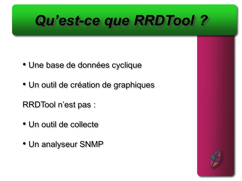 Qu'est-ce que RRDTool Une base de données cyclique