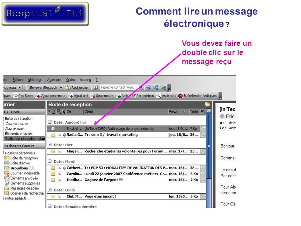 Comment lire un message électronique