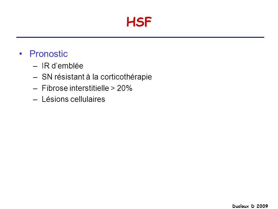 HSF Pronostic IR d'emblée SN résistant à la corticothérapie