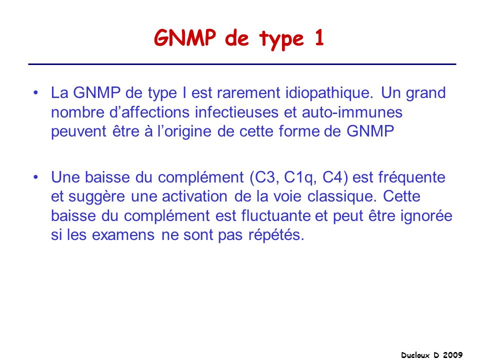 GNMP de type 1