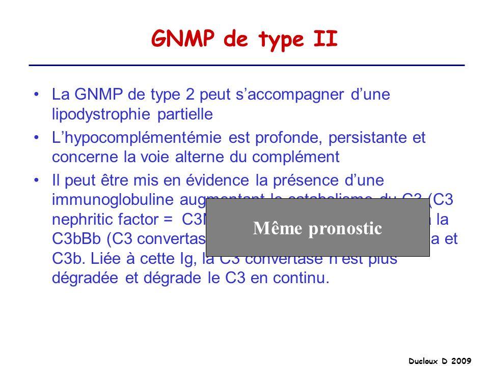 GNMP de type II Même pronostic