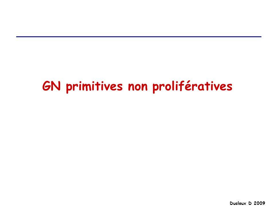 GN primitives non prolifératives