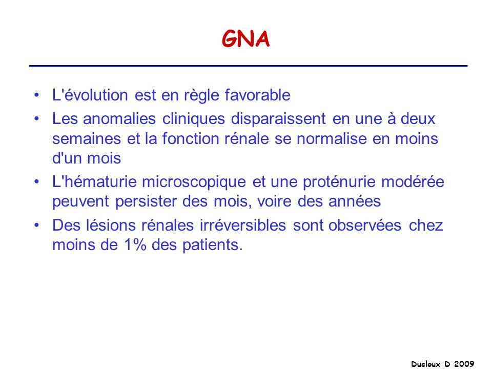 GNA L évolution est en règle favorable