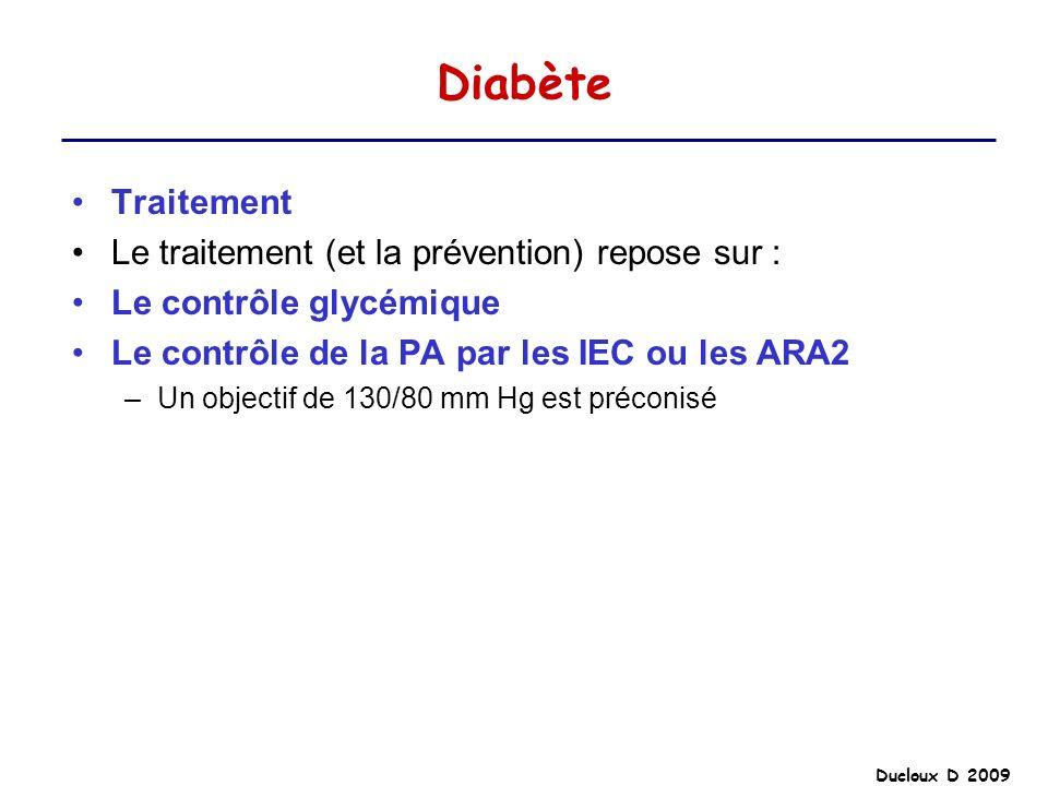 Diabète Traitement Le traitement (et la prévention) repose sur :