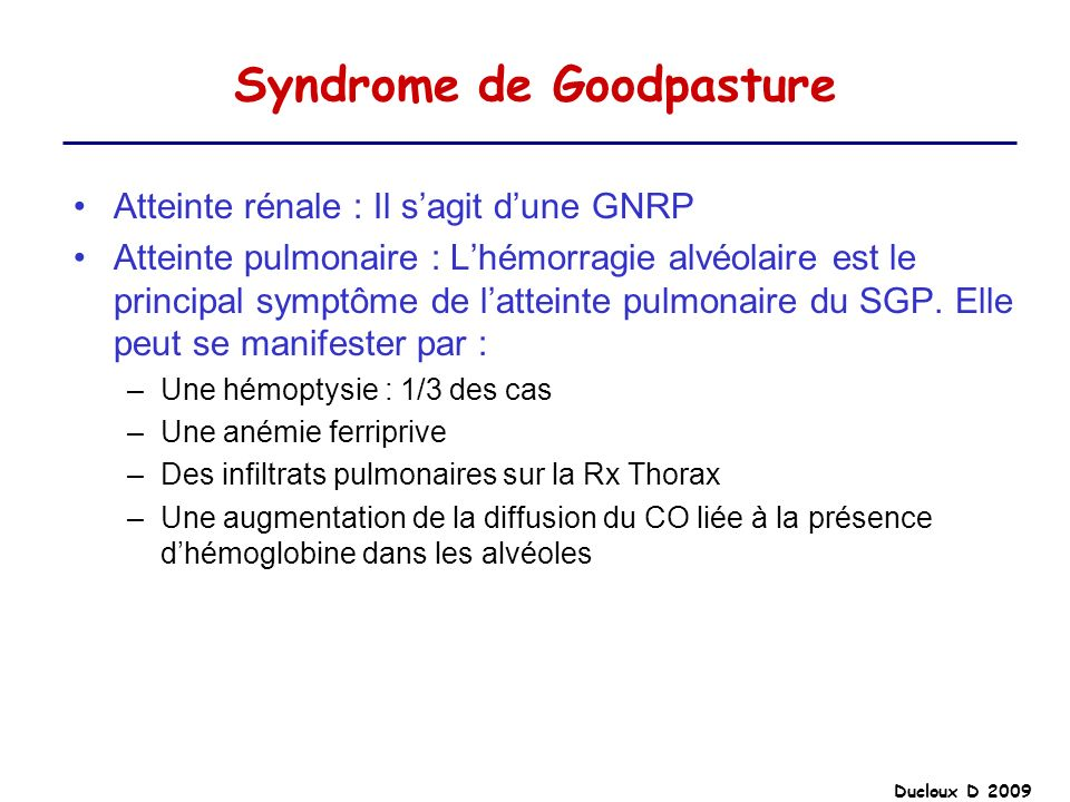 Syndrome de Goodpasture