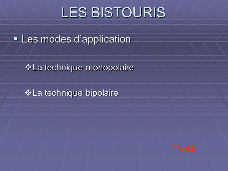 Les modes d'application