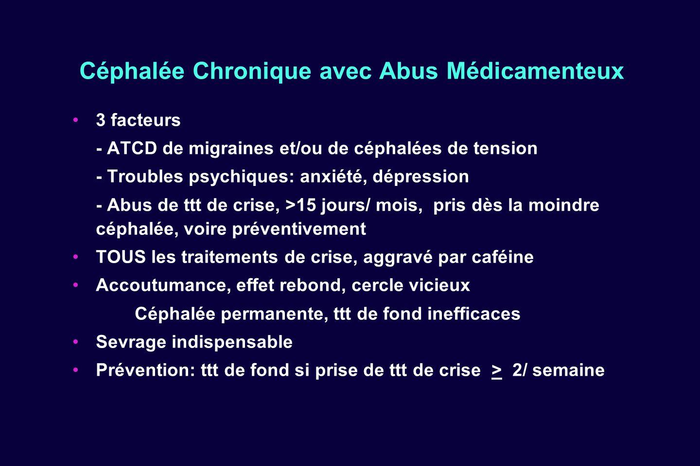 Céphalée Chronique avec Abus Médicamenteux