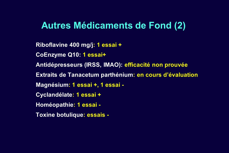 Autres Médicaments de Fond (2)