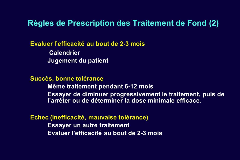 Règles de Prescription des Traitement de Fond (2)