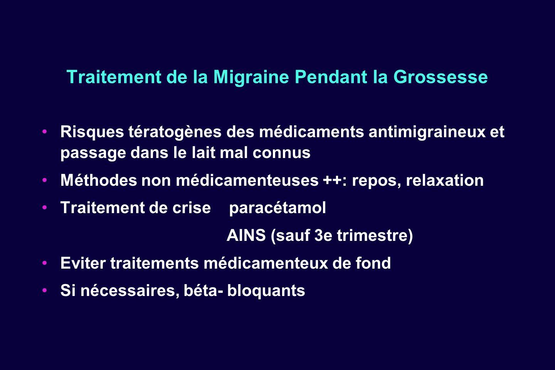 Traitement de la Migraine Pendant la Grossesse