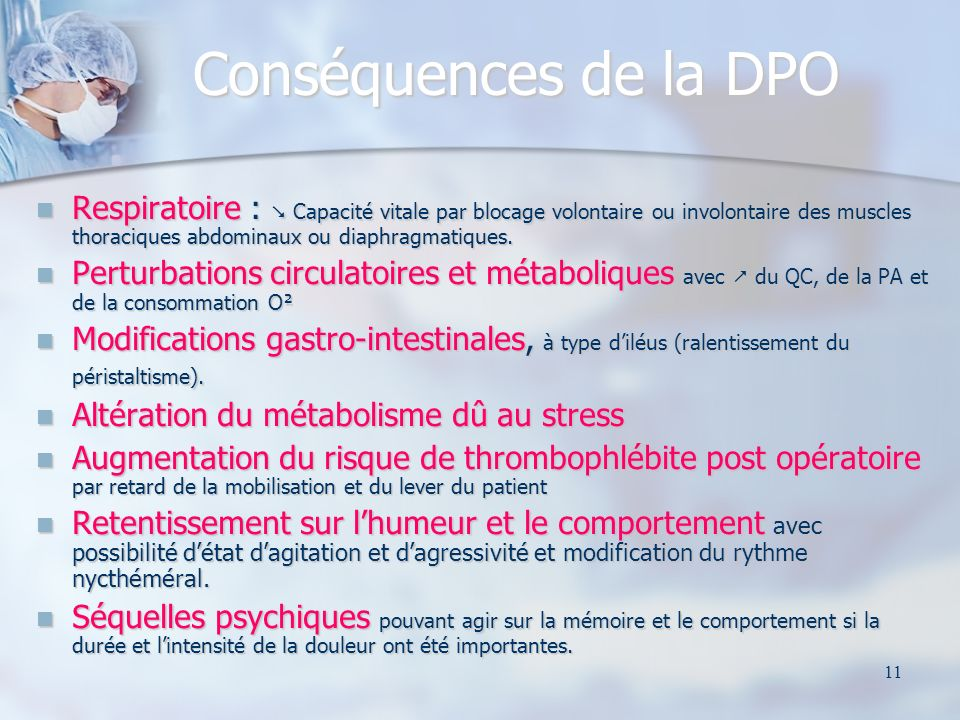 Conséquences de la DPO