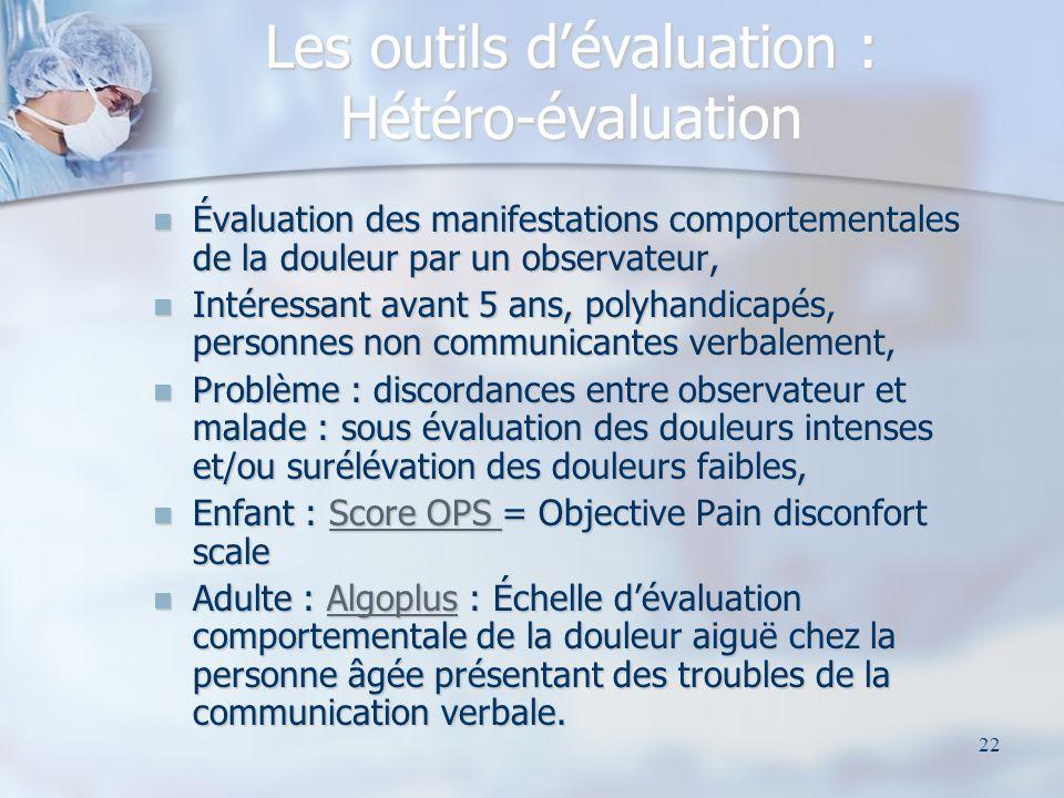 Les outils d'évaluation : Hétéro-évaluation