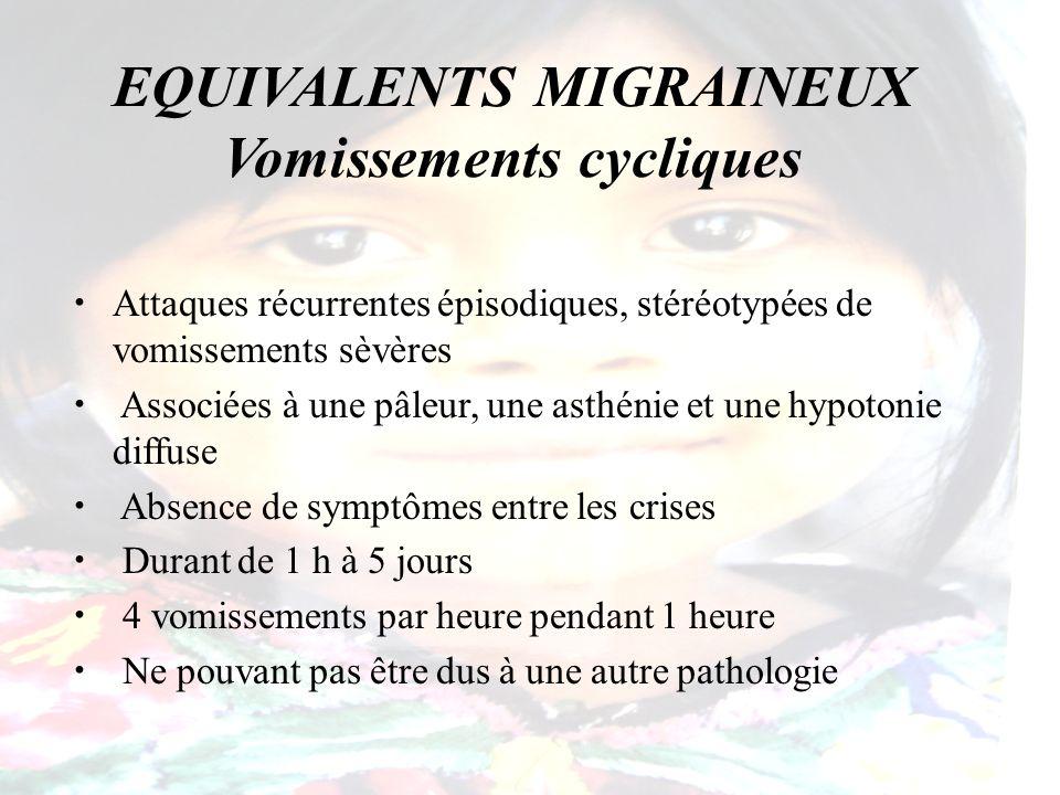 EQUIVALENTS MIGRAINEUX Vomissements cycliques