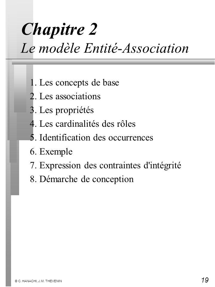 Chapitre 2 Le modèle Entité-Association