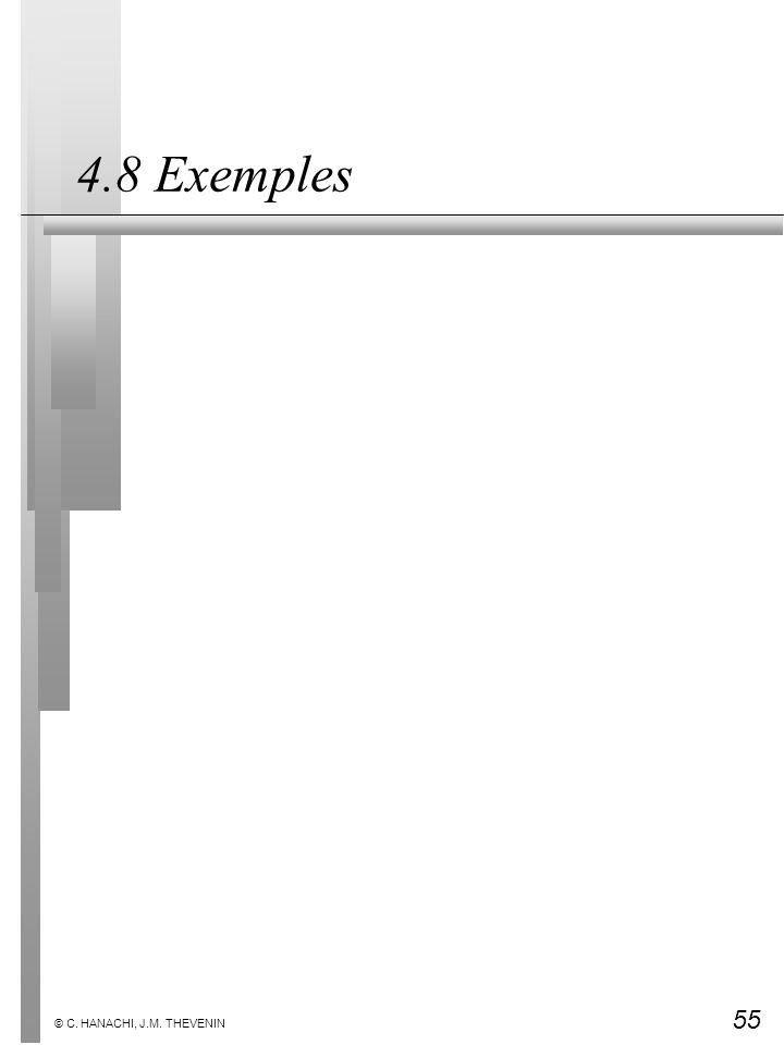 4.8 Exemples © C. HANACHI, J.M. THEVENIN