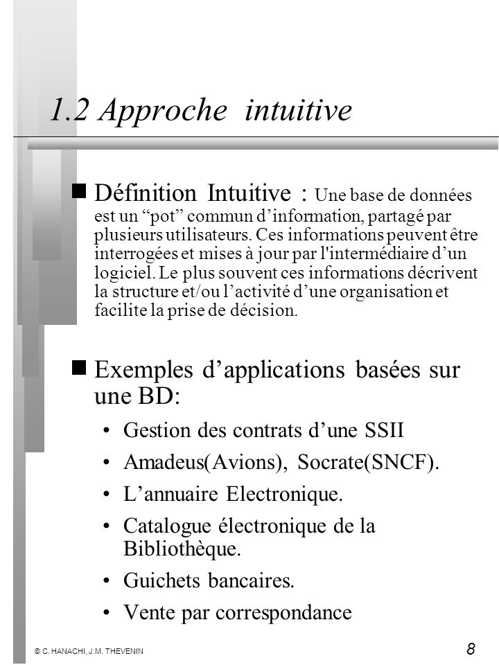 1.2 Approche intuitive