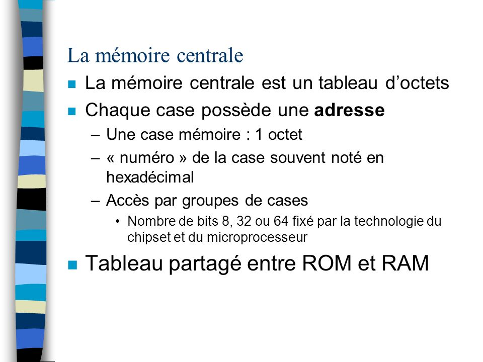 Tableau partagé entre ROM et RAM